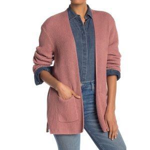 Madewell Nolan Ribbed Open Front Cardigan Sweater Medium